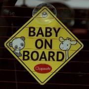 "Clippasafe ""Baby on Board"" / ""Child on Board"""