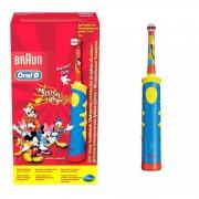 Periuta de dinti electrica Oral-B pentru copii D10.513K, 5600 oscilatii min, rosu albastru