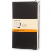 Moleskine Cahier Set de 3 Cuadernos 80 Páginas Rayadas Negro