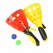 VEEJEE Multi Player Pop-Up Catch Ball Game with Free Balls (Set of 2 Catcher Ball) for Kids. (in Diff. Colour)