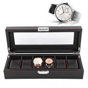 HURRISE Caja de Almacenamiento de Reloj, Caja de Reloj de joyería, Caja de exhibición de Reloj, Caja de Reloj a Prueba de Polvo