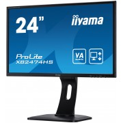 iiyama 24' 1920x1080, 13cm Height Adj. Stand, Pivot, VA panel, 250cd/m², VGA, DisplayPort, HDMI, 4ms, Speakers (23,6' VIS)