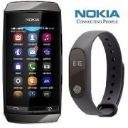 Nokia Asha 310 (1 year Warranty Bazaar Warranty) with Smart Bracelet