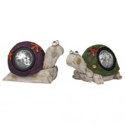 Napelemes lámpa, csiga / teknős