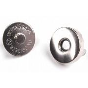 Táska mágneszár, 18mm, 5db, 060589 - nikkel