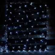 Plasa Luminoasa Craciun 2x2m 160LED Alb Rece Fir Negru P 6008