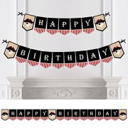 Big Dot Of Happiness Beware Pirates - Pirate Birthday Party Bunting Banner Decorations Happy