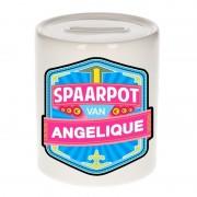 Bellatio Decorations Vrolijke kinder spaarpot voor Angelique