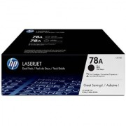 HP Toner 78A CE278AF Black Dual Pack LasetJet Toner Cartridge(Black)