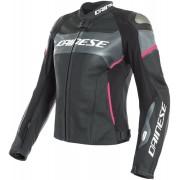 Dainese Racing 3 Lady D-Air® Airbag Damas chaqueta de cuero de la m... Negro Rosa 48