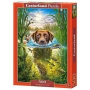 Puzzle Catel care inoata, 500 piese