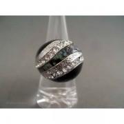 Inel bijuterie sferic cu cristale si scoici
