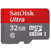 32GB SanDisk Ultra MicroSDHC UHS-I Memory Card with Adapter - HTC Micro SD