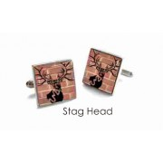 Tyler & Tyler Stencilart Red Bricks Cufflinks Stag Head