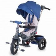 Tricicleta COCCOLLE Corso multifunctionala roti cauciuc albastru 337012130