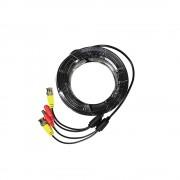 Cablu mufat si sertizat pentru camere supraveghere BNC+DC - 15 metri