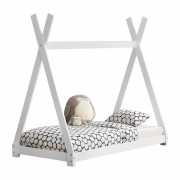 "[en.casa] Dětská postel ""Teepee"" AAKB-8674 80x160 cm bílá"
