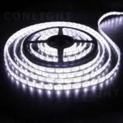 Tracon, LED-SZK-48-CW, LED szalag kültéri (vízálló IP65) 4,8W / m teljesítménnyel, 200lm, 6000K hidegfehér színhőmérséklettel, 12V DC, 8mm széles, 60 LED/m SMD LED, 120°(Tracon LED-SZK-48-CW)