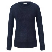 include Rundhals-Pullover include blau