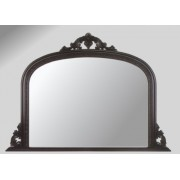 Ornate Black Overmantle Mirror