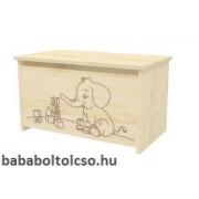Timba LILI elefántos játéktároló láda juhar