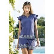 Santorini női nyári szett, kék