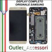 Display Schermo LCD Touch Samsung Galaxy S6 Edge Plus Edge+ G928F Gold Oro Originale