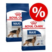 Pack Ahorro: Royal Canin 2x15/13/12/10/8 kg - Maxi Junior Active - 2 x 15 kg