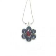 925 ezüst nyaklánc Swarovski® kristállyal - Silver Night és Light Siam