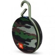 Тонколона JBL Clip 3 Squad, 1.0, 3W RMS, безжична, 3.5mm jack/Bluetooth, камуфлаж, микрофон, IPX7, до 10 часа работа