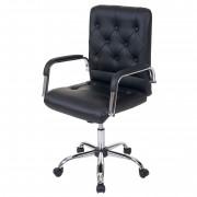 Bürostuhl Blackpool, Drehstuhl Schreibtischstuhl Chefsessel, Kunstleder schwarz ~ Variantenangebot