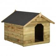 vidaXL Градинска кучешка колиба, отваряем покрив, импрегниран бор