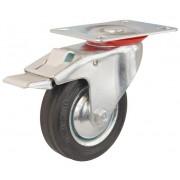 Koło metal/guma obudowa obrotowa z hamulcem średnica 160 mm
