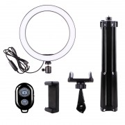 LATZZ Ring Fill Light Set [Ring Light+160cm Tripod Stand+Phone Bracket+Bluetooth Remote Controller]