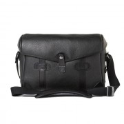 Barber Shop Pageboy Small Messenger Grained Black Leather