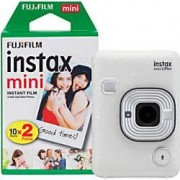 Fuji Instant Camera Instax Mini LiPlay Stone White 20 Shots