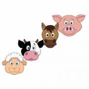 Shoppartners Boerderij dieren maskers knutselen pakket