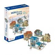 CubicFun Case traditionale din Franta Puzzle 3D 161 piese