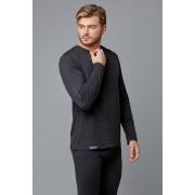 Milliner Мягкий мужской лонгстив черного цвета из мягкого материала с добавлением шерсти Milliner b1723229 черный