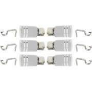 Hans Enterprise Set of 6 Stainless Steel Single Curtain Rod Bracket pack of 12