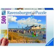 Puzzle sezlonguri pe plaja, 500 piese Ravensburger