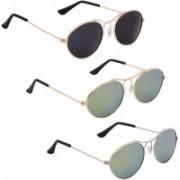 Phenomenal Oval Sunglasses(Black, Green)