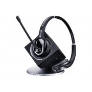 SENNHEISER DW 30 - EU DW Pro 2 - DECT CAT-iq Wireless Office hadset with base station, for desk phone and PC, adjustable mic arm + ultra NC Mic, Binarual