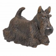Papo Zwarte Schotse terrier speeldiertje 6 cm