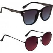 Marabous Round, Cat-eye Sunglasses(Red, Black, Grey)