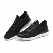 Zapatos Deportivos Con Malla Respirable Tenis Casual Para Hombre -Negro