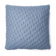 Kave Home Capa de almofada acolchoada Kam 45 x 45 cm azul-claro