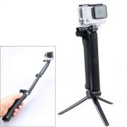 3-Way Multi Function Extendable Monopod Tripod Folding Rotating Arm Camera Handle for Gopro Hero 4 / 3+ / 3 SJ4000 / SJ6000