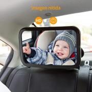 Espejo retrovisor para auto 5pz Mayoreo gran tamaño seguridad bebe