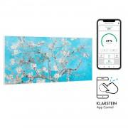 Klarstein Wonderwall Air Art Smart, инфрачервен нагревател, 120 х 60 см, 700 W, приложение, бадемов цвят (HTR10-WdwlS700wBlsm)